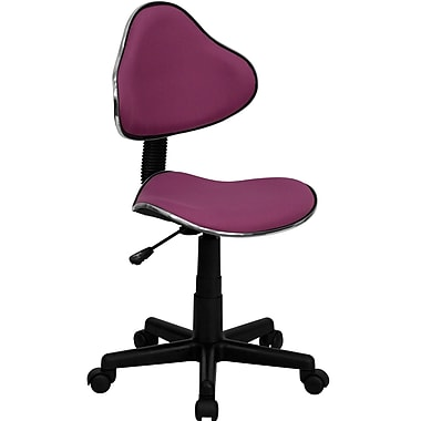 Flash Furniture Fabric Ergonomic Task Chair With Chrome Metal Band Accent, Lavender