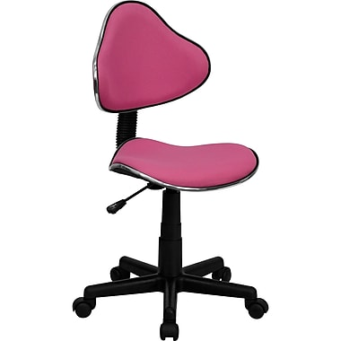 Flash Furniture BT-699-PINK-GG Fabric Armless Low-Back Task Chair, Pink