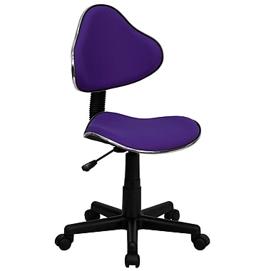 Flash Furniture BT-699-PURPLE-GG Fabric Armless Low-Back Task Chair, Purple