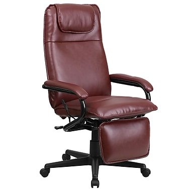 Flash Furniture High-Back LeatherSoft Executive Chair, Fixed Arms, Burgundy