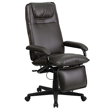Flash Furniture Leather Executive fice Chair Fixed Arms