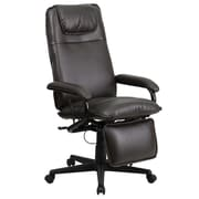 Flash Furniture Leather Executive Office Chair, Fixed Arms, Brown (BT70172BN)