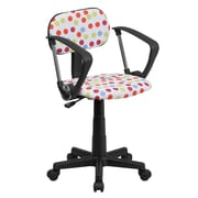 Flash Furniture Dot Printed Computer Chair with Arms, Multi-Colored