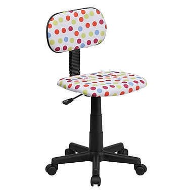 Flash Furniture Fabric Dot Printed Computer Chair, Multi-Colored