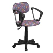 Flash Furniture Pattern Printed Computer Chair with Arms, Multi-Colored