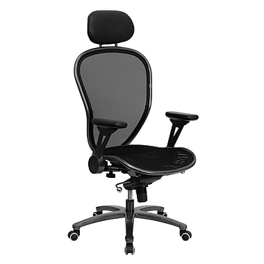 Flash Furniture High Back Professional Super Mesh Chair With Silver Vein Accents, Black