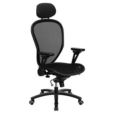 Flash Furniture High Back Professional Super Mesh Chair With Black Accents, Black