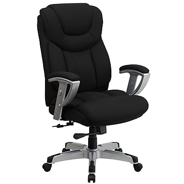 Flash Furniture HERCULES 400 lbs. Capacity Big & Tall Fabric Office Chair With Arms, Black