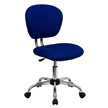 Flash Furniture Mid-Back Mesh Task Chair with Chrome Base, Blue