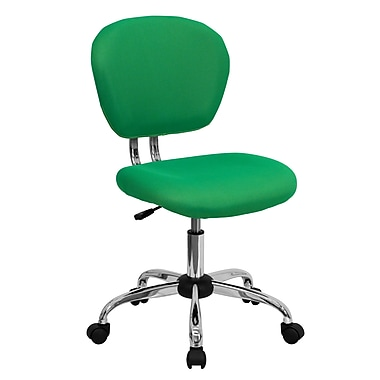 Flash Furniture Mid-Back Mesh Task Chair, Armless, Bright Green