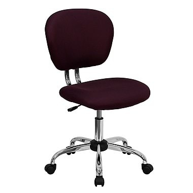 Flash Furniture H-2376-F-BY-GG Mesh Mid-Back Armless Task Chair, Burgundy
