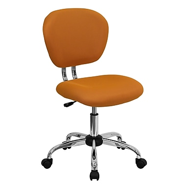 Flash Furniture Mid-Back Mesh Task Chair with Chrome Base, Orange