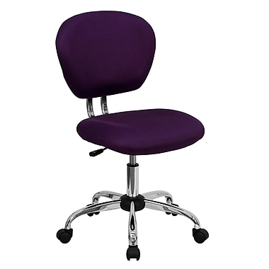 Flash Furniture H-2376-F-PUR-GG Mesh Mid-Back Armless Task Chair, Purple