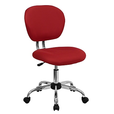 Flash Furniture Mid-Back Mesh Task Chair with Chrome Base, Red