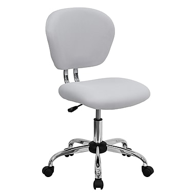 Flash Furniture Mesh Computer and Desk Office Chair, Armless, White (H2376FWHT)