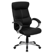 Flash Furniture High Back Leather Executive Office Chair, Black