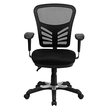 Flash Furniture Mid-Back Mesh Manager's Chair, Adjustable Arms, Black