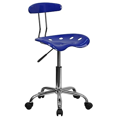Flash Furniture Polymer Vibrant Computer Task Chair With Tractor Seat, Nautical Blue