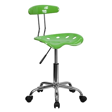 Flash Furniture Polymer Plastic Computer and Desk Office Chair, Armless, Spicy Lime (LF214SPCYLIME)