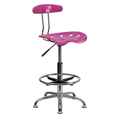 Flash Furniture Vibrant Drafting Stool With Tractor Seat, Candy Heart