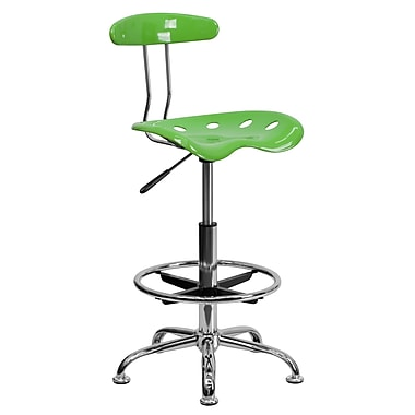 Flash Furniture Vibrant Drafting Stool With Tractor Seat, Spicy Lime