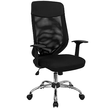Flash Furniture Mesh Executive Office Chair, Adjustable Arms, Black (LFW952)