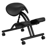 Flash Furniture Ergonomic Kneeling Chair With Saddle Seat, Black