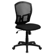 Flash Furniture Mid-Back Designer Back Task Chair with Padded Fabric Seat, Black