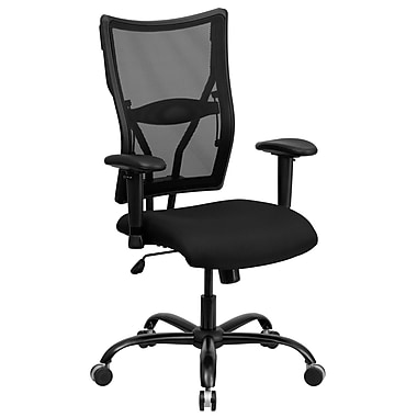 Flash Furniture HERCULES Series 400 lb. Capacity Big & Tall Mesh Office Chair with Arms, Black