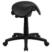 Flash Furniture Backless Saddle Stool, Black
