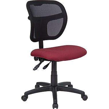 Flash Furniture Mesh Task Chair With Fabric Seat, Burgundy
