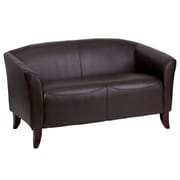 Flash Furniture HERCULES Imperial Series Leather Love Seat, Brown
