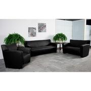 Flash Furniture Hercules Majesty Leathersoft Reception Set, Black (222SETBK)