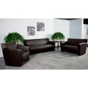 Flash Furniture Hercules Majesty Leathersoft Reception Set, Brown (222SETBN)