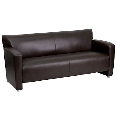 Flash Furniture HERCULES Majesty Series Leather Sofa, Brown