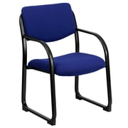 Flash Furniture Fabric Executive Side Chair With Sled Base, Navy