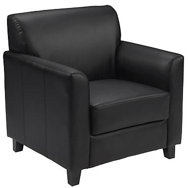 Flash Furniture HERCULES Diplomat Series Leather Chair, Black