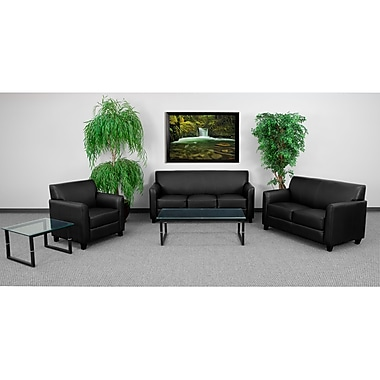 Flash Furniture Hercules Diplomat Wood Reception Sets, Black (BT827SETBK)