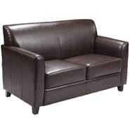 Flash Furniture HERCULES Diplomat Leather Love Seat, Brown