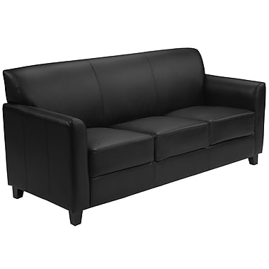 Flash Furniture HERCULES Diplomat Series Leather Sofa, Black