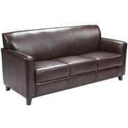 Flash Furniture HERCULES Diplomat Leather Sofa, Brown