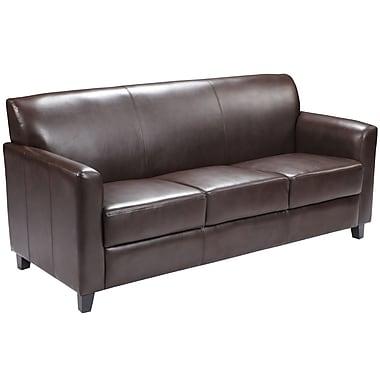 Flash Furniture HERCULES Diplomat Series Leather Sofa, Brown