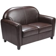 Flash Furniture HERCULES Envoy Leather Love Seat, Brown