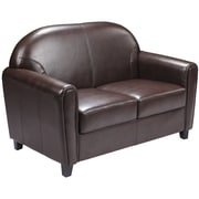 Flash Furniture HERCULES Envoy Series Leather Love Seat, Brown