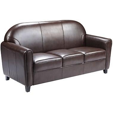 Flash Furniture HERCULES Envoy Series Leather Sofa, Brown