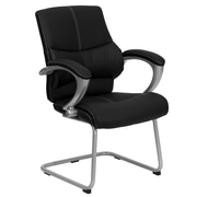 Flash Furniture Leather Executive Side Chair, Black