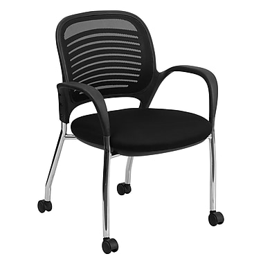 Flash Furniture Mobile Mesh Back Side Chair, Black