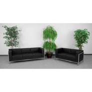 Flash Furniture HERCULES Imagination Sofa and Love Seat Set, Black