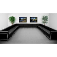 Flash Furniture HERCULES Imagination Series U-Shape Sectional Configuration with 12 Middle Chairs, Black