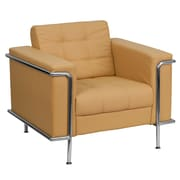 Flash Furniture HERCULES Lesley Series Contemporary Leather Chair with Encasing Frame, Light Brown
